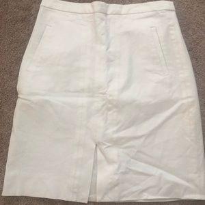 JCrew White Skirt
